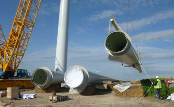 Construction at Hornsdale wind farm