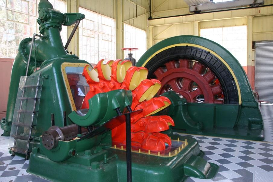 Waddamana pelton wheel